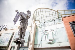 Leeds Trinity Facade And Angel Sxulpture