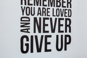 Leeds English Language School Motivation Quote - Never Give Up