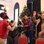 Leeds English Language School Students Having Fun At Xmas